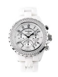 Chanel J12 Ceramic & Diamonds Chronograph